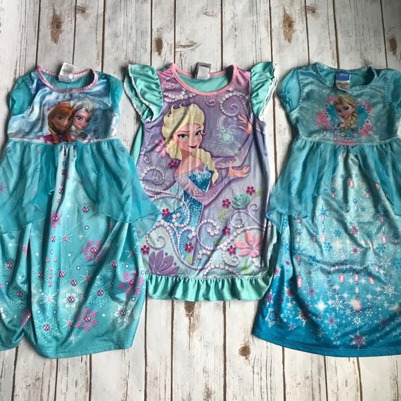 Disney Pajamas   S Frozen Elsa And Anna Princess Nightgowns   Poshmark